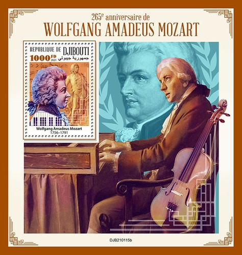 [The 265th Anniversary of the Birth of Wolfgang Amadeus Mozart, 1756-1791, type ]