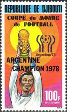 [Airmail - Argentina's Victory in Football World Cup - Argentina -  Stamps of 1978 Overprinted, Typ AD1]