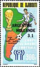 [Airmail - Argentina's Victory in Football World Cup - Argentina -  Stamps of 1978 Overprinted, Typ AE1]