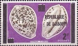 """[Various Stamps of Afars and Issas Overprinted """"REPUBLIQUE DE DJIBOUTI"""", Typ C1]"""