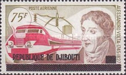 """[Airmail - Various Stamps of Afars and Issas Overprinted """"REPUBLIQUE DE DJIBOUTI"""", Typ C19]"""