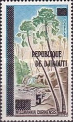 """[Various Stamps of Afars and Issas Overprinted """"REPUBLIQUE DE DJIBOUTI"""", Typ C2]"""