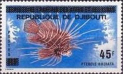 """[Various Stamps of Afars and Issas Overprinted """"REPUBLIQUE DE DJIBOUTI"""", Typ C8]"""