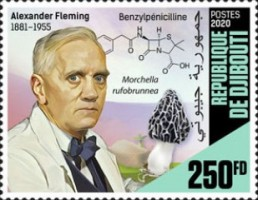 [The 65th Anniversary of the Death of Alexander Fleming, 1881-1955, Typ DOO]