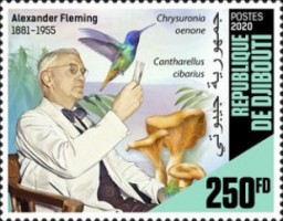 [The 65th Anniversary of the Death of Alexander Fleming, 1881-1955, Typ DOR]