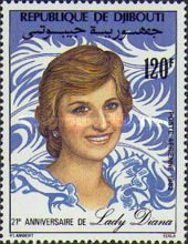 [Airmail - The 21st Anniversary of the Birth of Diana, Princess of Wales, 1961-1997, Typ EE]