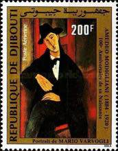 [Airmail - The 30th Anniversary of the Death of Matisse, 1893-1954 and the 100th Anniversary of the Birth of Modigliani, 1884-1920, Typ GN]