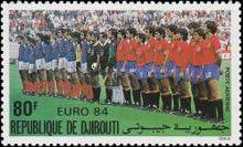 [Airmail - European Football Championship and Olympic Games, Los Angeles, Typ HJ]