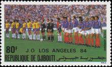 [Airmail - European Football Championship and Olympic Games, Los Angeles, Typ HK]