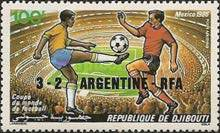 [Airmail - Football World Cup - Mexico 1986 - Stamps of 1986 Overprinted Results, Typ IV1]