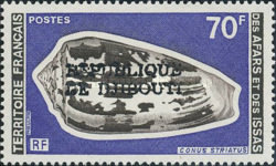 """[Various Stamps from Afars and Issas Overprinted """"REPUBLIQUE DE DJIBOUTI"""" in 1 or 2 Lines, Typ YAA12]"""