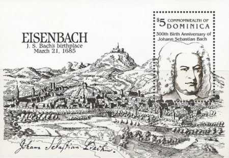 [The 300th Anniversary of the Birth of Johann Sebastian Bach (Composer), 1685-1750, Typ ]