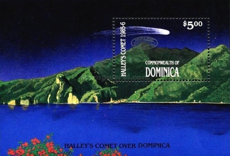 [Appearance of Halley's Comet - Issues of 1986 Overprinted, Typ ]