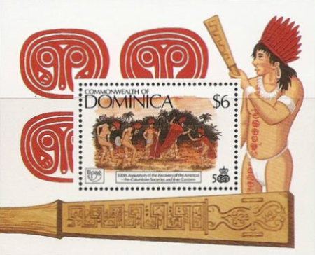 [The 500th Anniversary (1992) of Discovery of America by Columbus - Pre-Columbian Carib Society, Typ ]