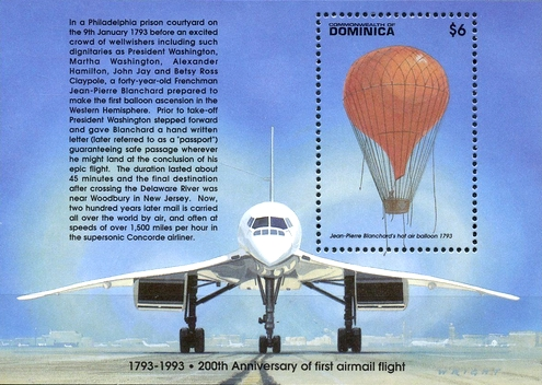 [The 200th Anniversary of First Airmail Flight, Typ ]