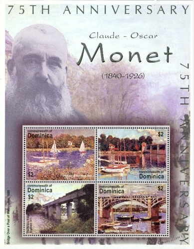 [The 75th Anniversary of the Death of Claude-Oscar Monet (French Painter), 1840-1926, Typ ]
