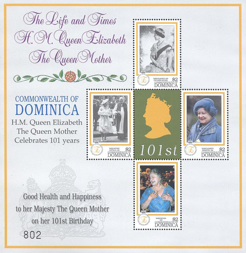 [The 101th Anniversary of the Birth of Queen Elizabeth the Queen Mother, Typ ]