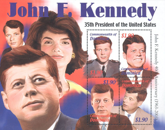 [The 40th Anniversary of the Death of John Fitzgerald Kennedy (2003), 1917-1963, Typ ]