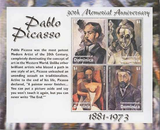 [The 30th Anniversary (2003) of the Death  of Pablo Picasso (Artist), 1881-1973, Typ ]