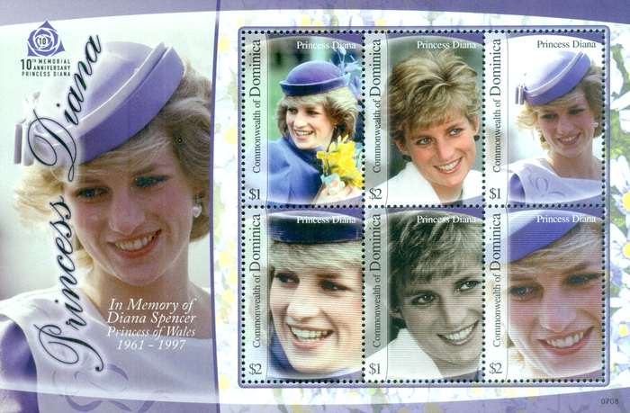 [The 10th Anniversary of the Death of Diana, Princess of Wales, 1961-1997, Typ ]
