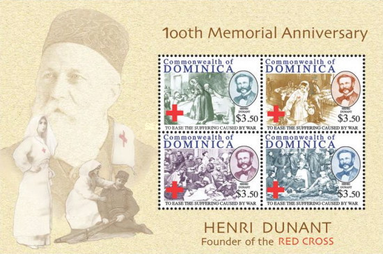[The 100th Anniversary of the Death of Henri Dunant, 1828-1910, Typ ]
