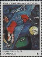 [The 100th Anniversary of the Birth of Marc Chagall (Artist), 1887-1985, Typ AHG]