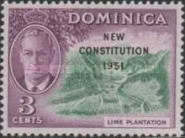 [New Constitution - Issues of 1951 Overprinted