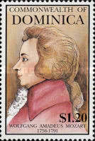[The 200th Anniversary (1991) of the Death of Wolfgang Amadeus Mozart, 1756-1791, Typ BET]