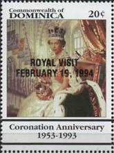 [Royal Visit - Issues of 1993 Overprinted