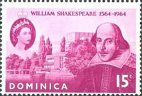 [The 400th Anniversary of the Birth of Shakespeare, 1564-1616, Typ CM]