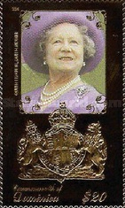 [The 100th Anniversary of the Birth of Queen Elizabeth the Queen Mother, 1900-2002, Typ CUH]