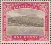 [Roseau, Capital of Dominica - New Watermark, Typ G10]