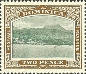 [Roseau, Capital of Dominica - New Watermark, Typ G11]