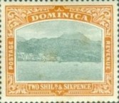 [Roseau, Capital of Dominica - New Watermark, Typ G17]