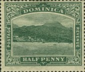 [Roseau, Capital of Dominica - New Watermark, Typ G30]