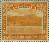 [Roseau, Capital of Dominica - New Watermark, Typ G32]