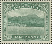 [Roseau, Capital of Dominica - New Watermark, Typ G9]