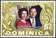 [The 25th Anniversary of the Wedding of Queen Elizabeth II and Prince Philip, Typ HZ]