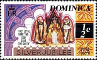 [The 25th Anniversary of the Reign of Queen Elizabeth II - Different Perforation, Typ OK1]
