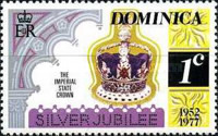 [The 25th Anniversary of the Reign of Queen Elizabeth II - Different Perforation, Typ OL1]