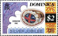 [The 25th Anniversary of the Reign of Queen Elizabeth II - Different Perforation, Typ ON1]