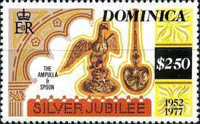 [The 25th Anniversary of the Reign of Queen Elizabeth II - Different Perforation, Typ OO1]