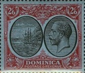 [Seal of Colony & King George V - Different Watermark, type R17]