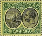 [Seal of Colony & King George V - Different Watermark, Typ R20]