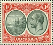 [Seal of Colony & King George V - Different Watermark, Typ R5]