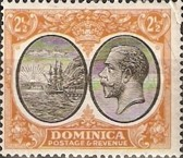 [Seal of Colony & King George V - Different Watermark, type R9]
