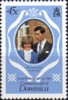 [Royal Wedding of Prince Charles and Lady Diana Spencer - Different Perforation and Slightly Different Background Color, Typ VI1]