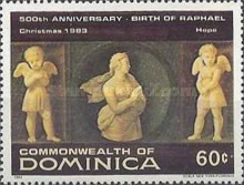 [Christmas - The 500th Anniversary of the Birth of Raphael, 1483-1520, Typ ZW]
