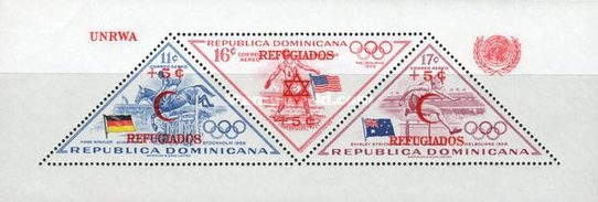 [Airmail - U.N. Relief and Works Agency for Palestine Refugee - Issues of 1957 Surcharged - For Jewish Refugees - Star of David and REFUGIADOS, Typ ]