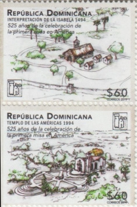 [The 525th Anniversary of the La Isabela Settlement, type ]